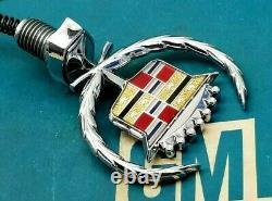 80 92 Cadillac Fleetwood Brougham Hood Ornament Header Panel Emblem Gm Trim