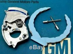 80 92 Cadillac Trunk Lock Crest Wreath Emblem Set Deck LID Gm Cover Trim