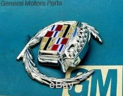 89 93 Cadillac Deville Fleetwood Trunk Lock Cover Crest Wreath Emblem Gm Trim
