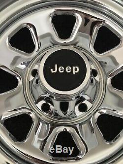 AMC Jeep CJ5 CJ7 CJ8 Factory Chrome 15X7 Laredo Wheels Original Oem Vintage Rare