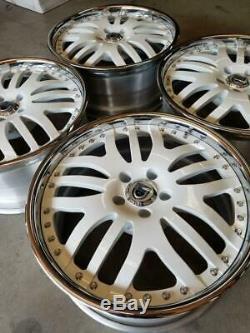 ASANTI FORGED Wheels / Rims 19 inch 5X114.3 +32MM GLOSS WHITE CHROME LIP