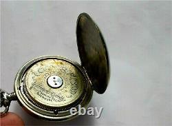 Antique Hebdomas 16 size Swiss made Exposed Balance wheel pocket watch 1920's