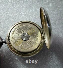 Antique Hebdomas 16s Swiss made Exposed Balance wheel Silver pocket watch