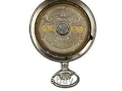 Antique Hebdomas Swiss made Exposed Balance wheel pocket watch working