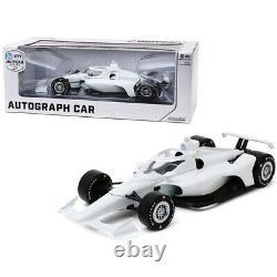 Autograph IndyCar Plain White with Chrome Wheels NTT IndyCar Series 1/18 Diecast
