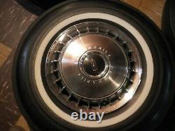 BF Goodrich White Wall Tires Size 14 inch & 1967 Oldsmobile 98 Hubcaps & Wheels