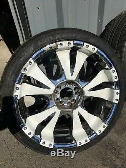 BZO Chrome Big Sport Wheels SET for BMW 20x8.5 et18 Falken Fk 452 245/35 R20