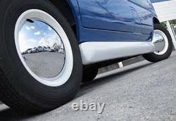 Baby Moon Chrome with White Wall hubcap 2084CW wheel cover 4PCS per set