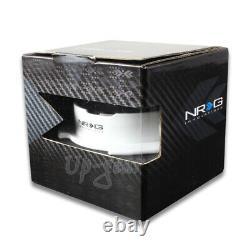 Black/White NRG 6-Hole Steering Wheel Gen 2.5 Quick Release Adapter SRK-250BK-WT