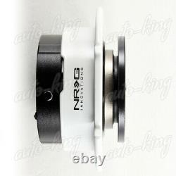 Black/white Ball Lock Nrg 6-hole Steering Wheel Gen 2.5 Quick Release Adapter