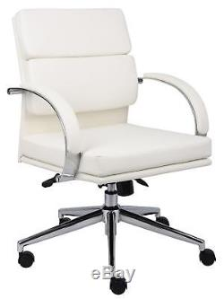 Boss White Caressoftplus Executive Series Desk Chair With Wheels