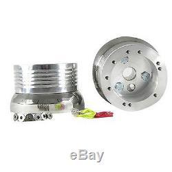 Chevy Steering Wheel Billet Aluminum & Ivory Half Wrap, Horn & Billet Adapter