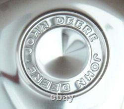 Chrome John Deere Hub Caps Wheel Covers Baby Moons 12 Rim Cap Patio JD Scratch