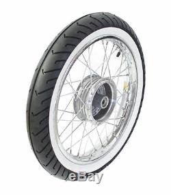 Complete Wheel Back with White Wall Tires MC2 on Chrome-Plated Rim Rear 2,75
