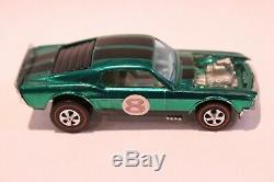 Fantastic Hot Wheels Redline Boss Hoss Mustang Green Over Chrome White Interior
