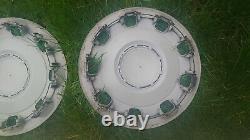 Fiat 500 Genuine Set Colour Therapy White & Chrome 14 Wheel Trim Hubcaps