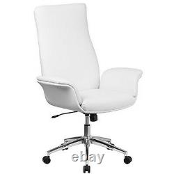 Flash Furniture High Back White Leather Executive Swivel ChairWith Flared Arms