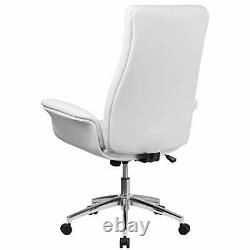 Flash Furniture High Back White LeatherSoft Executive Swivel Office Chair wit