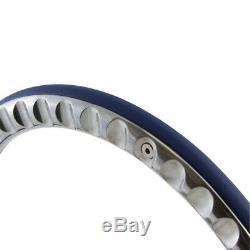 Forever Sharp -14 Chrome Nostalgia Steering Wheel with White Vinyl Half Wrap Grip