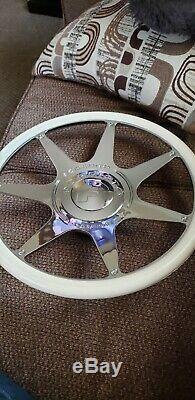 Forgiato Fondare Chrome & White Steering Wheel