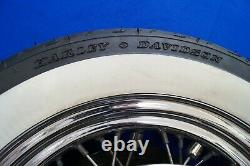 Genuine Harley Touring Road King White Wall Chrome Spoke Rear Wheel Rim 00-07