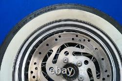Genuine Harley Touring Road King White Wall Chrome Spoke Rear Wheel Rim 2000-07