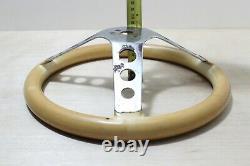 Grant Classic Deep Dish Chrome White Steering Wheel