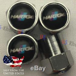 HARTGE Rims Logo Valves Stems Caps Covers Chromed Wheel Air Car Tire Wheels USA