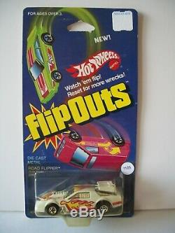 HOT WHEELS CAMARO RACER FLIP OUT WHITE & CHROME With FLAMES