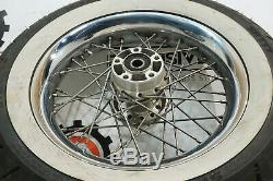 Harley OEM Chrome Profile Laced Rear White Wall Wheel 16x3 Softail Heritage 5021