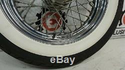 Harley OEM Touring Road King White Wall 16x3 Softail Chrome Spoke Wheel Rim Rear