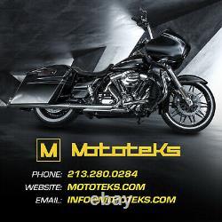 Harley Spoke Wheel 21x3.5 40 Stainless Chrome Touring Bagger Rotor White Tire