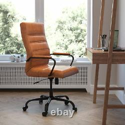 High Back Executive Swivel Office Chair with Metal Frame and Arms