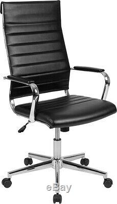 High Back LeatherSoft Ribbed Executive Swivel Office Chair Desk Chair
