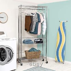 Honey-Can-Do Chrome Rolling Laundry Station, 600 lbs