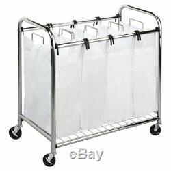 Honey Can Do Quad Laundry Sorter, Chrome