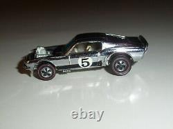 Hot Wheels Redline 1970 Mustang Boss Hoss Chrome Club Car W / White Interior