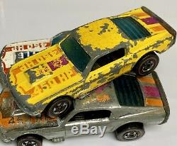 Hot Wheels Redline 1974 Mustang Stocker Lot White Yellow Chrome