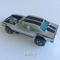 Hot Wheels Redline Chrome Heavy Chevy with HTF White Interior Club Car 1969 HK