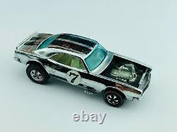 Hot Wheels Redline HEAVY CHEVY HK Chrome Club Car White Int VG/EX Very Nice