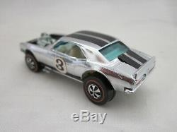 Hot Wheels Redline Heavy Chevy 1970 Hk Chrome Club Car W Wht Int