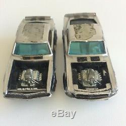 Hot Wheels Redline Lot Chrome Heavy Chevy & Mustang Boss Hoss White Int 1969 HK