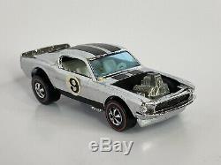 Hot Wheels Redline Mustang Boss Hoss Chrome White Interior 2 Buttons Envelope