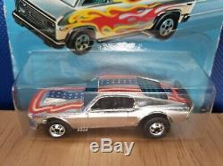 Hot Wheels Super Chromes Blackwall Mustang Stocker Star's & Stripe's Doorlines