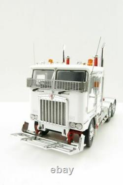 Iconic Replicas Kenworth K100G 6x4 Prime Mover White with Chrome Wheels 150