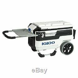 Igloo 34231 Trailmate Marine Wheeled Cooler, 70 Quart, White/Black/White/Chrome
