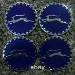 Impala Wire Wheel Emblems 4 Blue & Chrome Size 2.25 Zenith Style