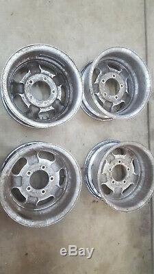 Jeep CJ CJ5 CJ7 CJ8 Factory 15X7 Aluminum Slot Wheels Rims Original Oem Renegade