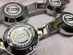 Lowrider Hydraulics Wire Wheel Knock Off Zenith impala White Chrome Chip 4pcs