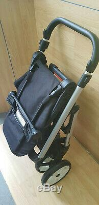 MINI Easywalker Stroller chrome Frame with white black wheels